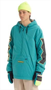 Analog Chainlink Anorak Pull Over Snowboard/Ski Jacket, XL Green-Blue