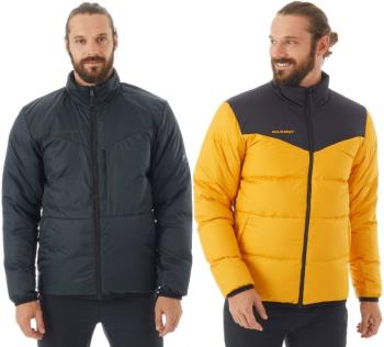 Mammut Whitehorn Down Insulated Mens Reversible Jacket, L Golden Black