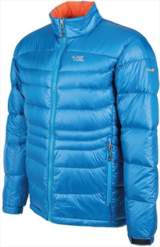 Alpine Crown Mefisto Light Down Jacket, S/M Light Blue/Orange