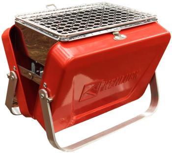 Kenluck Mini Grill Portable Camping BBQ, Lucky Gloss Red