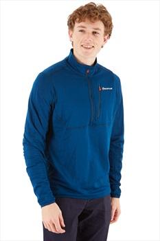 Montane Power Up Polartec Half-Zip Fleece Pullover, L Narwhal Blue