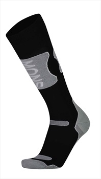 Mons Royale Pro Lite Tech Ski/Snowboard Socks L Black/Grey Marl
