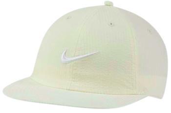 Nike SB Flatbill Seersucker Snapback Cap, Adjustable Off White
