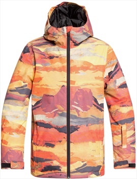 Quiksilver Mission Kid's Ski Jacket, Age 12 Barn Red