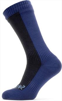 SealSkinz Cold Weather Mid Length Waterproof Socks, M Black/Navy