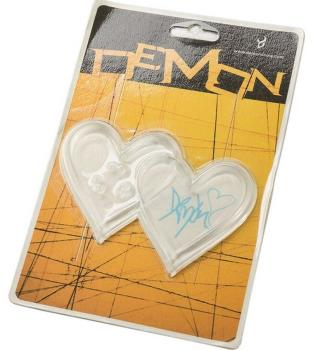Demon Heart Adhesive Snowboard Stomp Pad Clear With Pink Logo