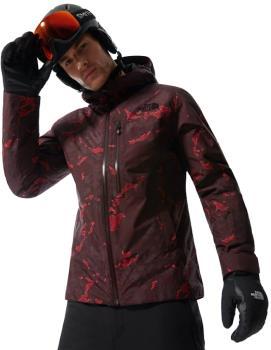 The North Face Descendit Ski/Snowboard Jacket M Root Brown Print