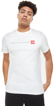 North Face Never Stop Exploring Short Sleeve T-Shirt L White/Red