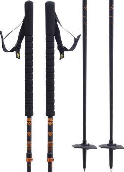 Black Crows Duos Freebird Ski Poles Adjustable Black/Orange