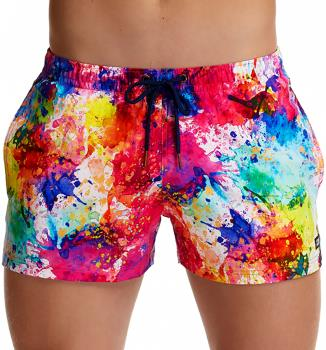 Funky Trunks Shorty Shorts Men's Swimming Shorts, S Dye Another Day