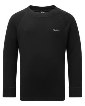 Manbi Steiner Soft-Tec Kid's Longsleeve Thermal Top 11/12 Yr Black