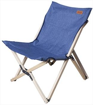 Nigor Flycatcher Chair Wood Frame Camp Seat, Medium Denim