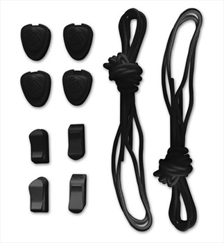 Liquid Force Lace and Lock Kit For Wakeboard Bindings 20 Piece Black