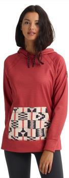 Burton Crown Bonded Pullover Women's Hoodie XL Sienna Heather