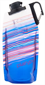 Platypus Duolock Softbottle Flexible Water Bottle, 1L Blue Skyline