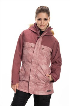 686 Dream Womens Snowboard/Ski Jacket, S Crushed Berry Wash Colorblock