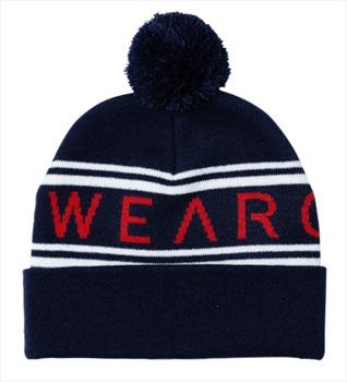 Wearcolour Knit Ski/Snowboard Beanie Bobble Hat, One Size Blue Iris
