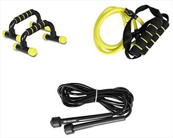Vector X Gym Exercise Training Set, One Size Black/Yellow