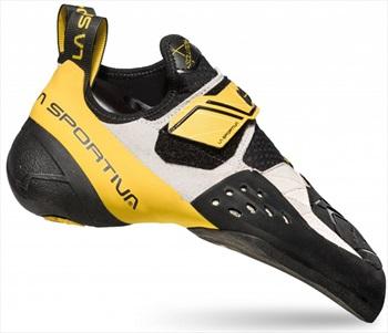 La Sportiva Solution Rock Climbing Shoe, UK 5 | EU 38 White / Yellow