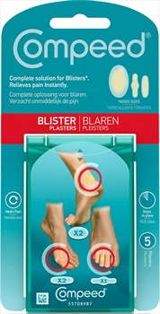 Compeed Mix 5 Blister Plasters, Clear