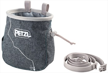 Petzl Adult Unisex Saka Rock Climbing Chalk Bag, Grey