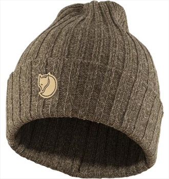 Fjallraven Byron Hat Knitted Winter Beanie, One Size Dark Olive/Taupe
