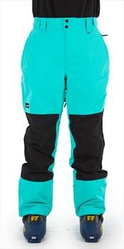 Planks Feel Good Ski/Snowboard Pants, L Teal