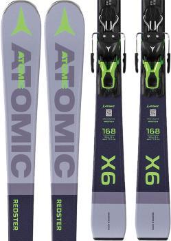 Atomic Redster X6 FT 11 GW Bindings Skis, 168cm Grey/Dark Grey 2020