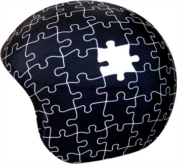 Coolcasc Printed Cool Ski/Snowboard Helmet Cover, One Size, Puzzle