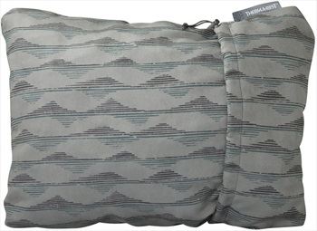 ThermaRest Compressible Travel Pillow Camping Pillow, M Grey Mountains