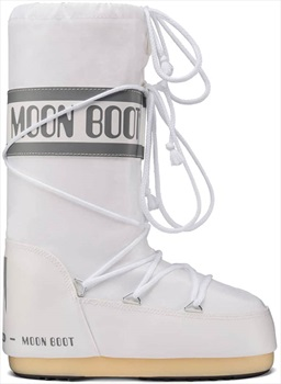 Moon Boot Original Nylon Winter Snow Boots, UK 8-9.5 / EU 42-44 White