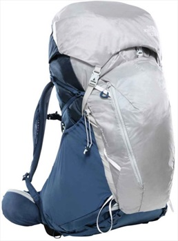 The North Face Womens Banchee 50 Xs/S Women's Hiking Backpack, 50 Litres Blue/Grey