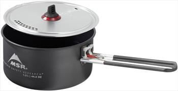 MSR Ceramic Solo Pot V2 Lightweight Backpacking Cookware, 1.3L Grey