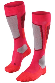 Falke SK2 Merino Wool Women's Ski Socks, UK 5.5-6.5 Rose