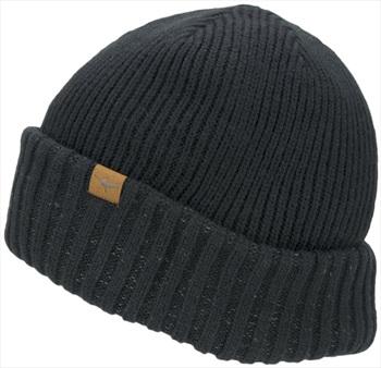 SealSkinz Waterproof Cold Weather Roll Cuff Beanie, L/XL Black