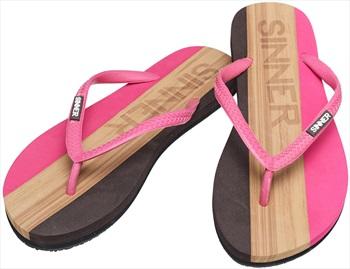 Sinner Capitola Women's Flip Flops, UK 7.5 / EU 41 Dark Pink/Brown