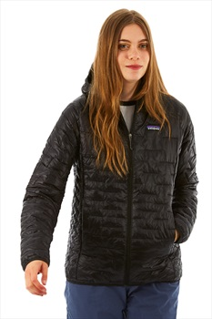 Patagonia Women's Micro Puff Hoody Insulated Jacket UK 14 Black