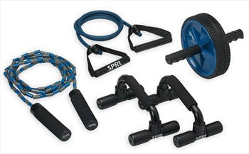 SPRI Home Gym Kit, 4 PCS Black/Blue