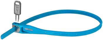 Hiplok Z Lok Steel Core Cable Tie Key Lock, 40cm Cyan