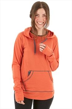 Marmot La Linea Hoody Women's Fleece Pullover, S Amber