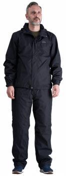 Five Seasons Star Wind/Waterproof Jacket & Trousers Set, M Black