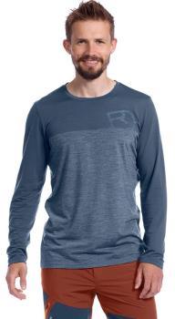 Ortovox 150 Cool Logo Men's LS Merino T-shirt, S Blue Lake