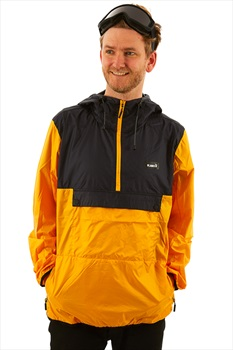 Planks Radorak Packable Ski/Snowboard Anorak, L Sunset Yellow