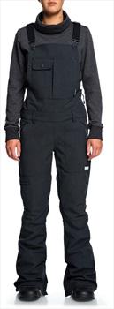 DC Collective Women's Ski/Snowboard Shell Bib Pants, S Black