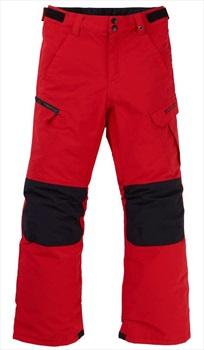 Burton Boys Exile Cargo Snowboard Pants, XL Flame Scarlet