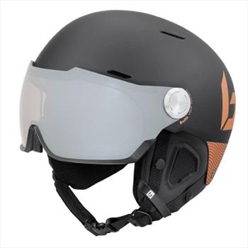 Bolle Might Visor Premium Ski/Snowboard Helmet, S, Matte Black & Gold