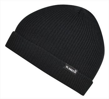 Planks Adult Unisex Essentials Knitted Beanie Hat, One Size New Black