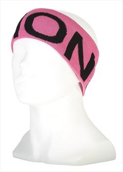 Mons Royale Arcadia Merino Winter Headband, One Size Black/Pink