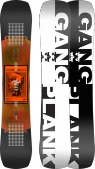 Rome Gang Plank Reverse Camber Snowboard, 154cm W 2022