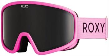 Roxy Feenity Dark Smoke Women's Ski/Snowboard Goggles, M/L Neon Pink